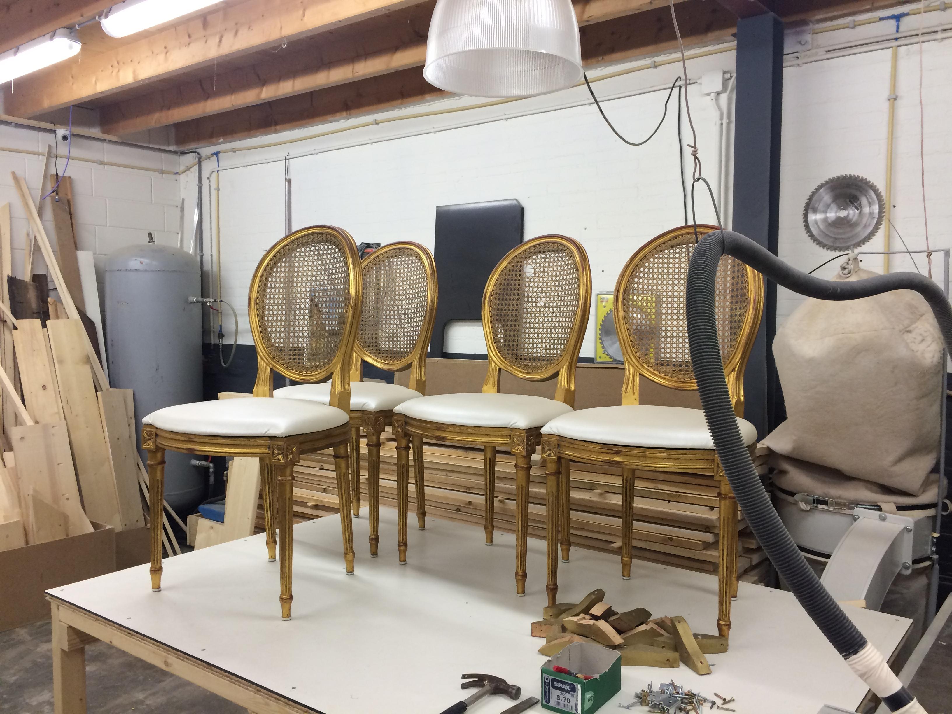 Renovatie eettafel stoelen